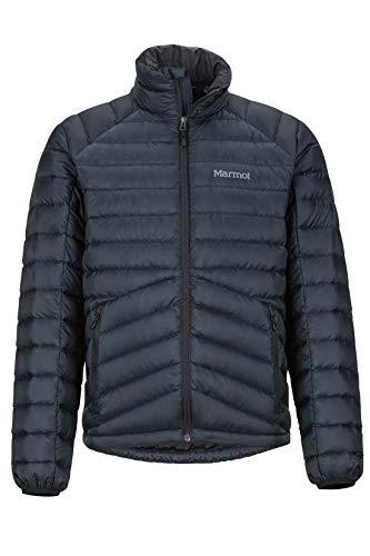Marmot Herren Highlander Down Ultra-leichte Daunenjacke, 700 Fill-Power, Warme Outdoorjacke, Wasserabweisend, Winddicht, Black, S