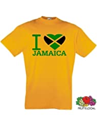 world-of-shirt Herren T-Shirt Jamaica I Love Jamaika Kingston Reggea