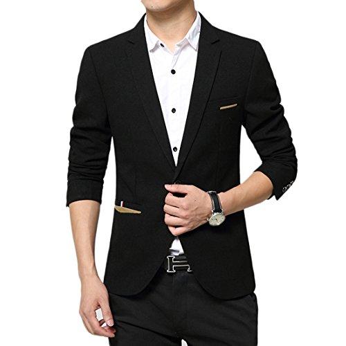 Insun -  Giacca da abito  - Classico  - Uomo Nero