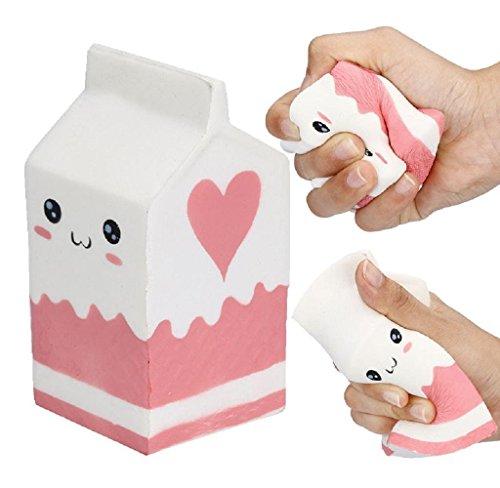 Kenmont Süß Squishies Spielzeug Squeeze Slow Rising Squishy Tier Angst Stress Relief Vent Spielzeug Puppe (milk box)