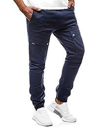 OZONEE Uomo Jogging Pantaloni Baggy Quotidiano Pantaloni Regular Jeans  Pantaloni Sportivi Pantaloni per Il Tempo Libero 522ba2376fbd