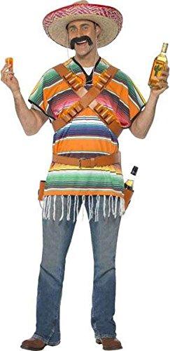 Tequila shooter Costume stile messicano, da uomo, taglia