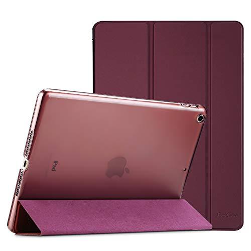 ProCase iPad 9.7 Hülle 2018 iPad 6 Generation /2017 iPad 5 Generation Tasche - Äußerst Schlank Leichtgewicht Ständer mit Transluzent Matt Rückseite Intelligente Hülle für Apple iPad 9.7 Zoll -Wine