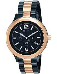 Fossil Venture Black Dial Women's Smart Watch - FTW6002