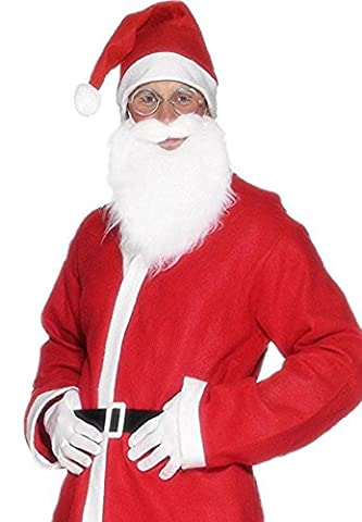 Santa Claus Mens Fancy Dress Father Christmas Adults Flannel Suit Costume Outfit