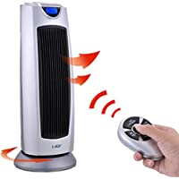 Calentador de torre de cerámica digital con mando a distancia,Calentador eléctrico Termostato Portátil Oscillation
