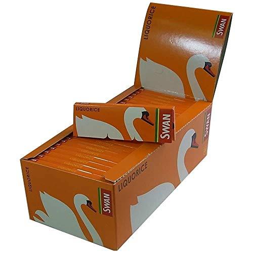 Swan Zigarettenpapier, Lakritze, Standard Box mit 50 Heftchen - American Standard Filter