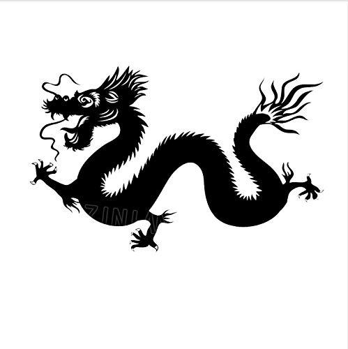 Asiatischen Drachen Aufkleber Mode Schlafzimmer Dekor Vinyl Tier Wohnkultur Wohnzimmer Tv Hintergrund Maskottchen Aufkleber 85X56 cm ()