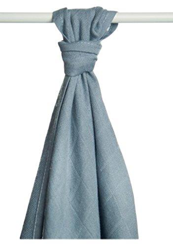 XKKO bmb09 0021 a Bambou Couche Serviettes à langer, allaiter, comme tapis ou couverture légère, couches 90 x 100 cm, argent