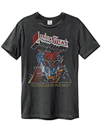 Amplified Mens Judas Priest Defender T Shirt Charcoal