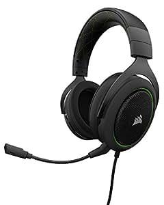 Corsair HS50 Gaming Headset / Stereo Kopfhörer (mit abnehmbaren Mikrofon, für PC/PS4/Xbox One/Switch/Mobiltelefon) grün