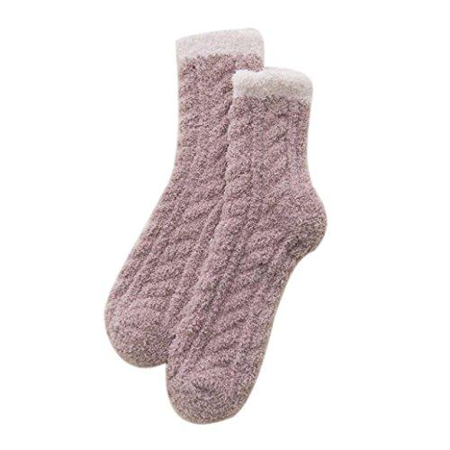Preisvergleich Produktbild Hansee Weihnachten Frauen & Männer Nette Korallen Fleece Warme Socken Herbst Winter Casual Boden Socken (J)