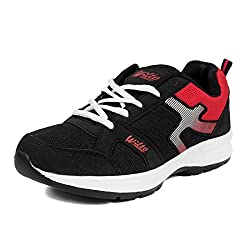 Asian GRIP09 Black and Red Mens Range Running Shoes