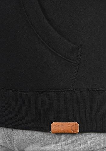 SOLID TripHood Herren Kapuzenpullover Hoodie Sweatshirt aus hochwertiger Baumwollmischung Black Pile