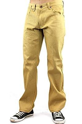 Kayden K Double Pocket Straight Jeans Khaki