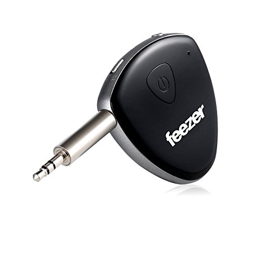 Feezer 2-in-1 Bluetooth 4.1 Transmitter & Receiver With Mic, Music/Volume Control, 3.5mm Adapter For TV, Computers, iPod, Headphones, Play Stations, Car Stereo System, MP3/CD/DVD Support aptX Low Latency
