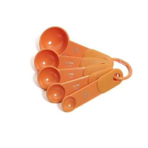 KitchenAid Classic Set of 5 Measuring Spoons Tangerine