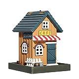 ZDJR ZDJR Vogelhäuschen, Landhäuschen, Vogelhäuschen, Waldhäuschen, wasserdicht, ideal für Vögel im Freien, Hinterhof, Garten