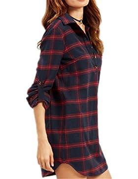 Donne Magliette T Shirt Manica Lunga Stampa Maglietta Camicie Cime Tops Elegante