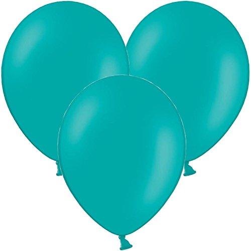 Carpeta 10 Luftballons in * TÜRKIS * zur Dekoration Bei Geburtstag, Party und Jubiläum   Kinder Kindergeburtstag Deko Mottoparty Balloons Blue Blau Ballons