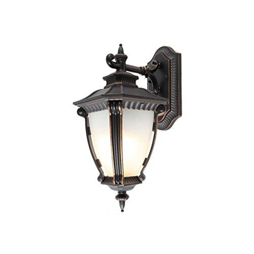 LED-Außenwandleuchte Im Europäischen Stil Reine Aluminium-Retro-Tür-Lampe Hochwertige Garten-Wandleuchte Villa Außenwandleuchte Hof Ganglampe (E27 Lampensockel) XXBB