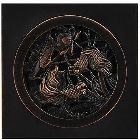 Olio bronzo strofinata con finitura in ottone in ottone solido
