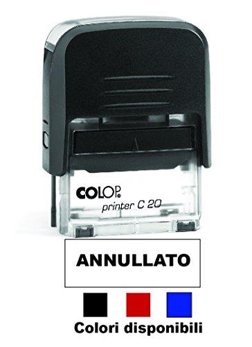 Timbro ANNULLATO Autoinchiostrante Pronto all'uso con Testo personalizzato Modello Colop Printer C 20 Commerciale Ufficio Scuola Lavoro Inchiostro disponibile in 3 colori (NERO)