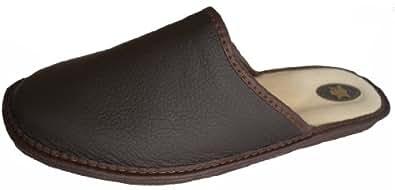 'Marited' / Brun / naturel cuir / chaussons , pantoufles / femmes & hommes (36)