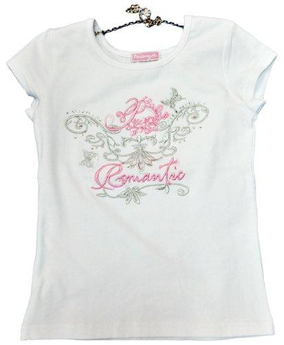 PACINO T-Shirt ragazza con collana, con ricami, 910471d bianco 4 anni