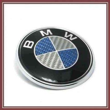 bmw-blue-real-carbon-fibre-82mm-bonnet-or-boot-badge-hood-blau-kohlefaser-emblem-motorhaube-heckklap