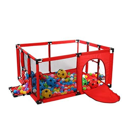 Baby Box, Baby Box, pieghevole e recinto per parchi giochi portatile con rete traspirante per neonati, giochi per interni ed esterni, telaio per il calcio + tappetino strisciante (100 * 120 cm)
