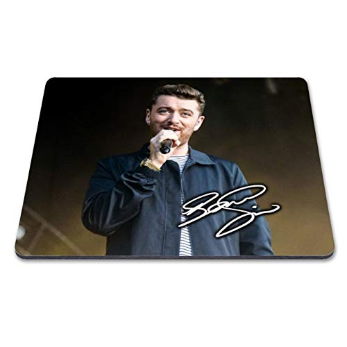 Sam Smith 2 Personalised Gift Print Mouse Mat Autograph Computer Rest Mouse Mat Compatible with Laser and Optical Mice (No Personalised Message)
