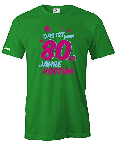 DAS IST MEIN 80er JAHRE KOSTÜM - HERREN - T-SHIRT in Grün by Jayess Gr. L (80er Jahre Kostüm Kostüme Männer)