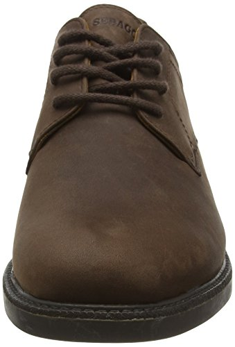 Sebago Turner Lace Up, Chaussures à Lacets Homme Marron (Dk Brown Leather Wp)