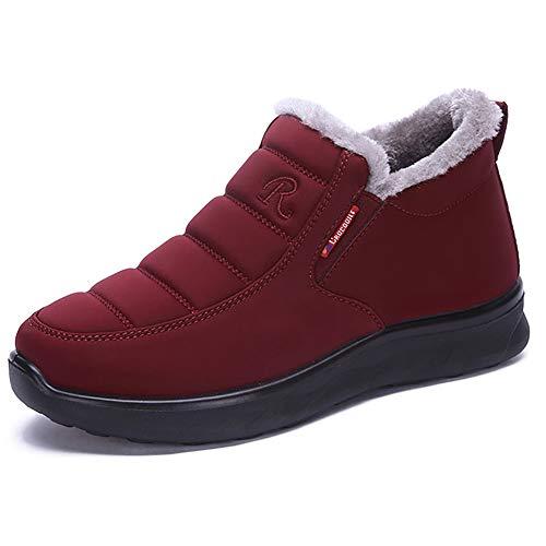 Tony Lama Fashion Stiefel (XIGUAFR Damenschuhe Pelz Schuh Innenwärmer hält täglich Winterstiefel Freizeit eine Rutschfeste Weichkleidung)