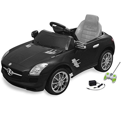 vidaXL Voiture électrique 6 V avec télécommande Mercedes Benz SLS AMG noire