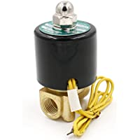 heschen Messing Elektrisches Magnetventil 1/4 Zoll DC 12 V Direct Action Wasser Air Gas Normalerweise geschlossen Ersatz-Ventil