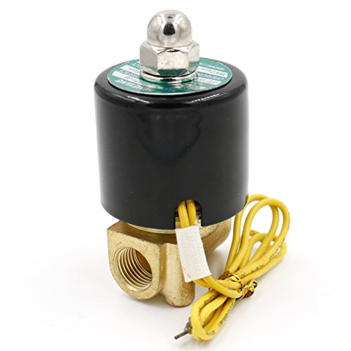 heschen Messing Elektrisches Magnetventil 1/4 Zoll DC 12 V Direct Action Wasser Air Gas Normalerweise geschlossen Ersatz-Ventil -