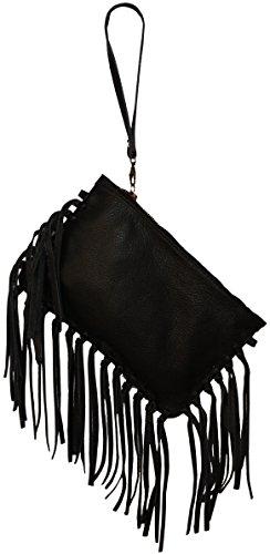 Perano Clutch Tasche, Poschette giorno donna Nero (nero)