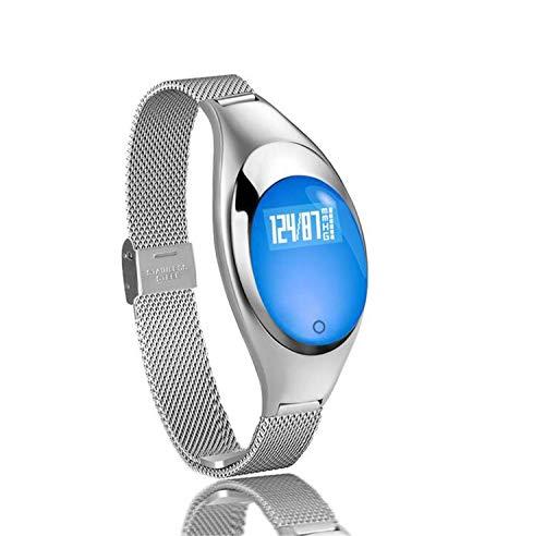 NUO-Z Smart Watch Fitness Tracker Herzfrequenzmesser Aktivitätsarmband Bluetooth Schrittzähler mit Schlafmonitor für Android oder IOS Smartphones , 0,49 Zoll Bildschirm