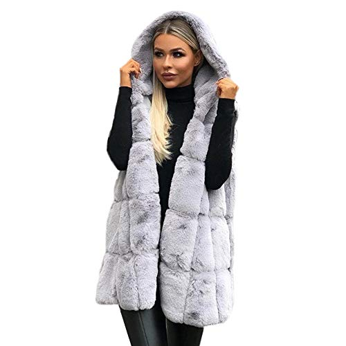 Bazhahei giacca donna,giacca donna lana invernali parka senza maniche,cappotto donna invernale elegante taglie forti,caldo cappotto con cappuccio