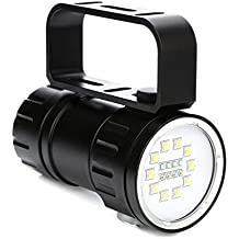 Rawdah 10 Luces Blancas 28800Lm 80 M Debajo De La Superficie Led Diving Flashlight FotografíA Luz