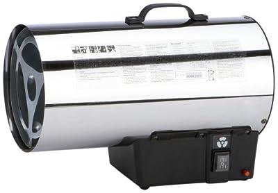 Einhell Gas Heizgebläse HGG 171 Niro (Heizleistung bis 17 kW, 500 m³/h Luftdurchsatz, für handelsübliche Gasflaschen, rostfreies Stahlblech Gehäuse, Piezozündung, Druckregler) von Einhell - Heizstrahler Onlineshop