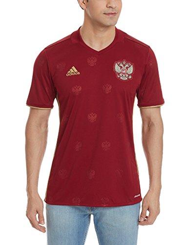 adidas Herren UEFA EURO 2016 Russland Heimtrikot Replica Trikot Collegiate Burgundy/Dark Football Gold XL