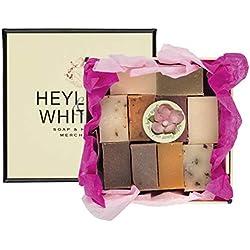 Heyland and Whittle Coffret cadeau avec 10 savons naturels d'invités Taille S