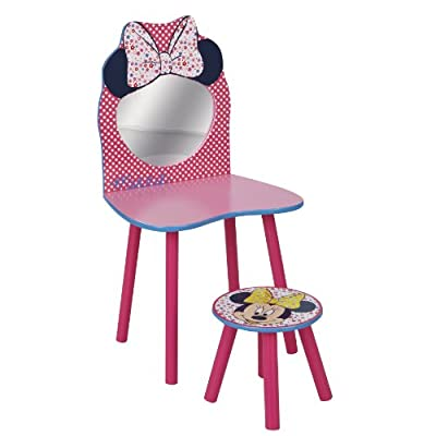 Disney Minnie Mouse Dressing Table and Stool by HelloHome - cheap UK dressing table shop.