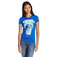 Disney Juniors Inside Out Sadness Graphic T-Shirt, Royal, 2XL