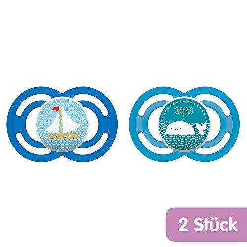 MAM Babyartikel 99953400 - Perfect, Ciuccio in silicone 6-16 mesi, privo di BPA, confezione doppia, modelli assortiti
