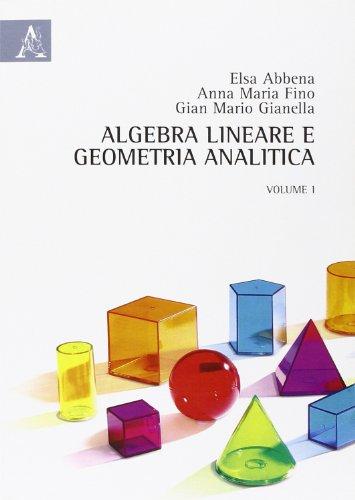 Algebra lineare e geometria analitica: 1