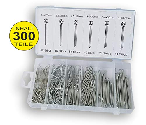 300 tlg. Sortiment DKB Splinte 25-65 mm Splint Sicherungsstifte